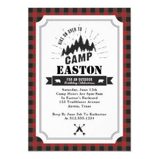 Convite de aniversário do acampamento