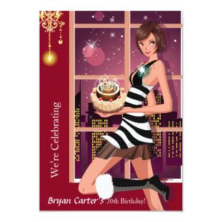 Convite de aniversário do adulto de dezembro convite 12.7 x 17.78cm
