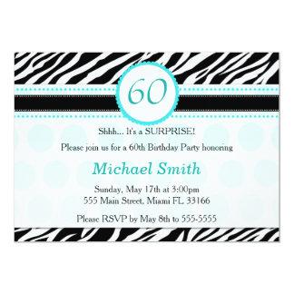 Convite de aniversário do adulto de turquesa da