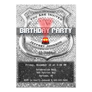 Convite de aniversário do agente da polícia