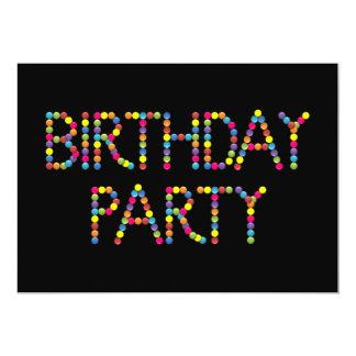 Convite de aniversário do arco-íris do partido do
