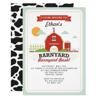 Convite de aniversário do Barnyard
