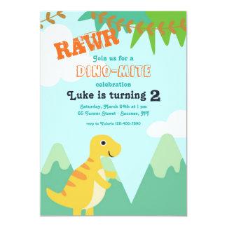Convite de aniversário do bebê do dinossauro