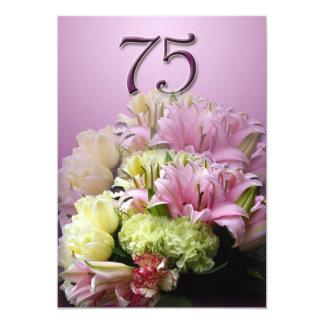 Convite de aniversário do buquê 75th