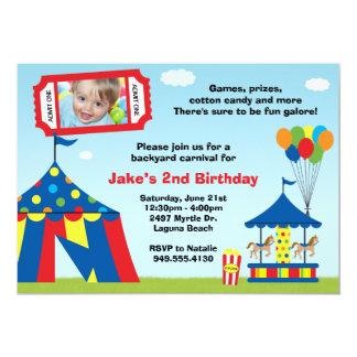 Convite de aniversário do carnaval