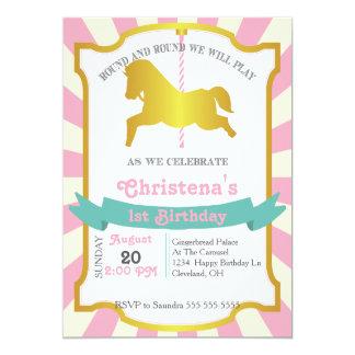 Convite de aniversário do carrossel