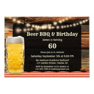 Convites Festas De Aniversário Cerveja E Do Churrasco Zazzlecombr