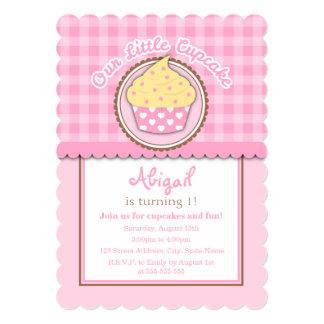 Convite de aniversário do cupcake convite 12.7 x 17.78cm
