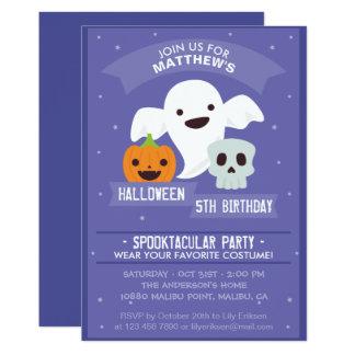 Convite de aniversário do Dia das Bruxas do menino
