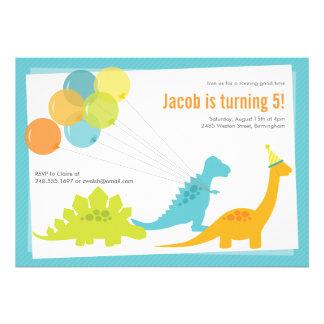 Convite de aniversário do dinossauro