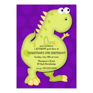 Convite de aniversário do dinossauro convite 12.7 x 17.78cm