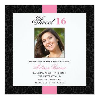 Convite de aniversário do doce 16 convite quadrado 13.35 x 13.35cm