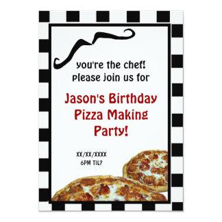 Convite de aniversário do fazer da pizza
