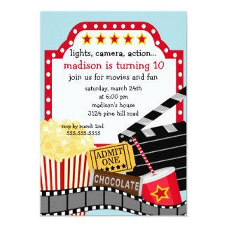 Convite de aniversário do filme