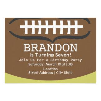 Convite de aniversário do futebol