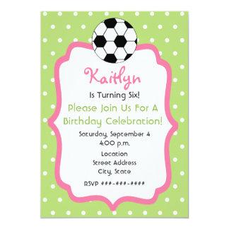 Convite de aniversário do futebol da menina