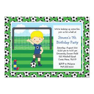 Convite de aniversário do futebol dos meninos