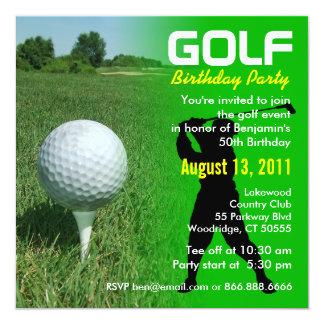Convite de aniversário do golfe