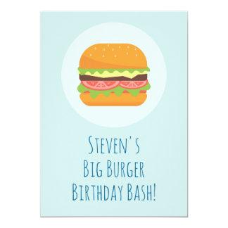 Convite de aniversário do Hamburger