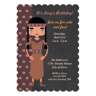 Convite de aniversário do indiano do nativo