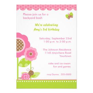 Convite de aniversário do jardim da modificação