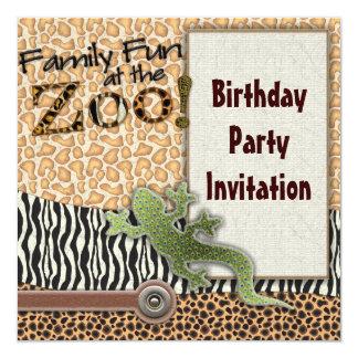 Convite de aniversário do jardim zoológico do