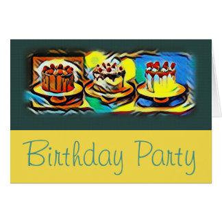 Convite de aniversário do jazz da arte do bolo