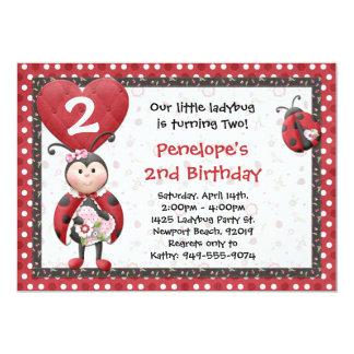 Convite de aniversário do joaninha