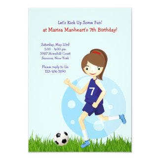 Convite de aniversário do jogador de futebol da