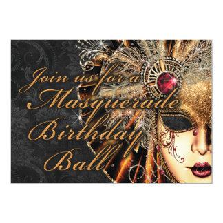 Convite de aniversário do mascarada do carnaval