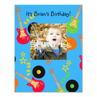 Convite de aniversário do menino da estrela do
