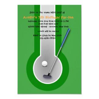 Convite de aniversário do mini golfe