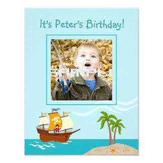 Convite de aniversário do miúdo do pirata