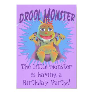 Convite de aniversário do monstro do Drool