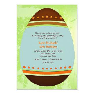 Convite de aniversário do ovo da páscoa