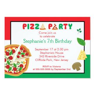 Convite de aniversário do partido da pizza dos