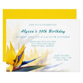 Convite de aniversário do Pássaro--Paraíso de