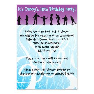 Convite de aniversário do PATINAGEM NO GELO
