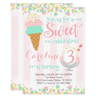 Convite de aniversário do Popsicle do sorvete