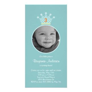 Convite de aniversário do príncipe Foto Cartão Com Foto