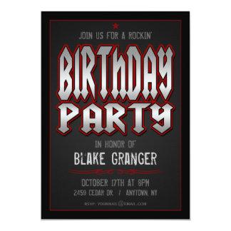 Convite de aniversário do rock and roll convite 12.7 x 17.78cm