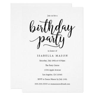 Convite de aniversário do roteiro | do aniversário