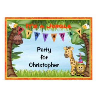 Convite de aniversário do safari de selva
