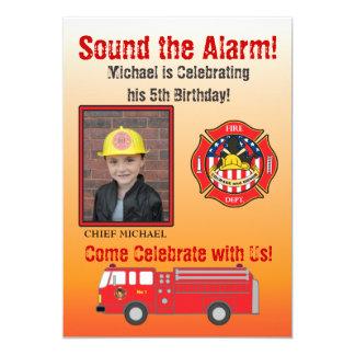 Convite de aniversário do sapador-bombeiro