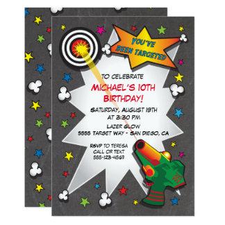 Convite de aniversário do Tag de Lazer