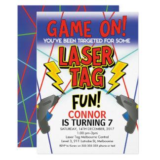 Convite de aniversário do Tag do laser