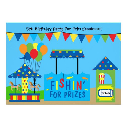 Convite de aniversário do tema do carnaval