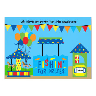 Convite de aniversário do tema do carnaval convite 12.7 x 17.78cm