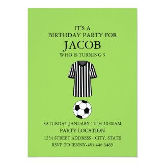 Convite de aniversário do tema do futebol