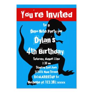 Convite de aniversário do vermelho azul do